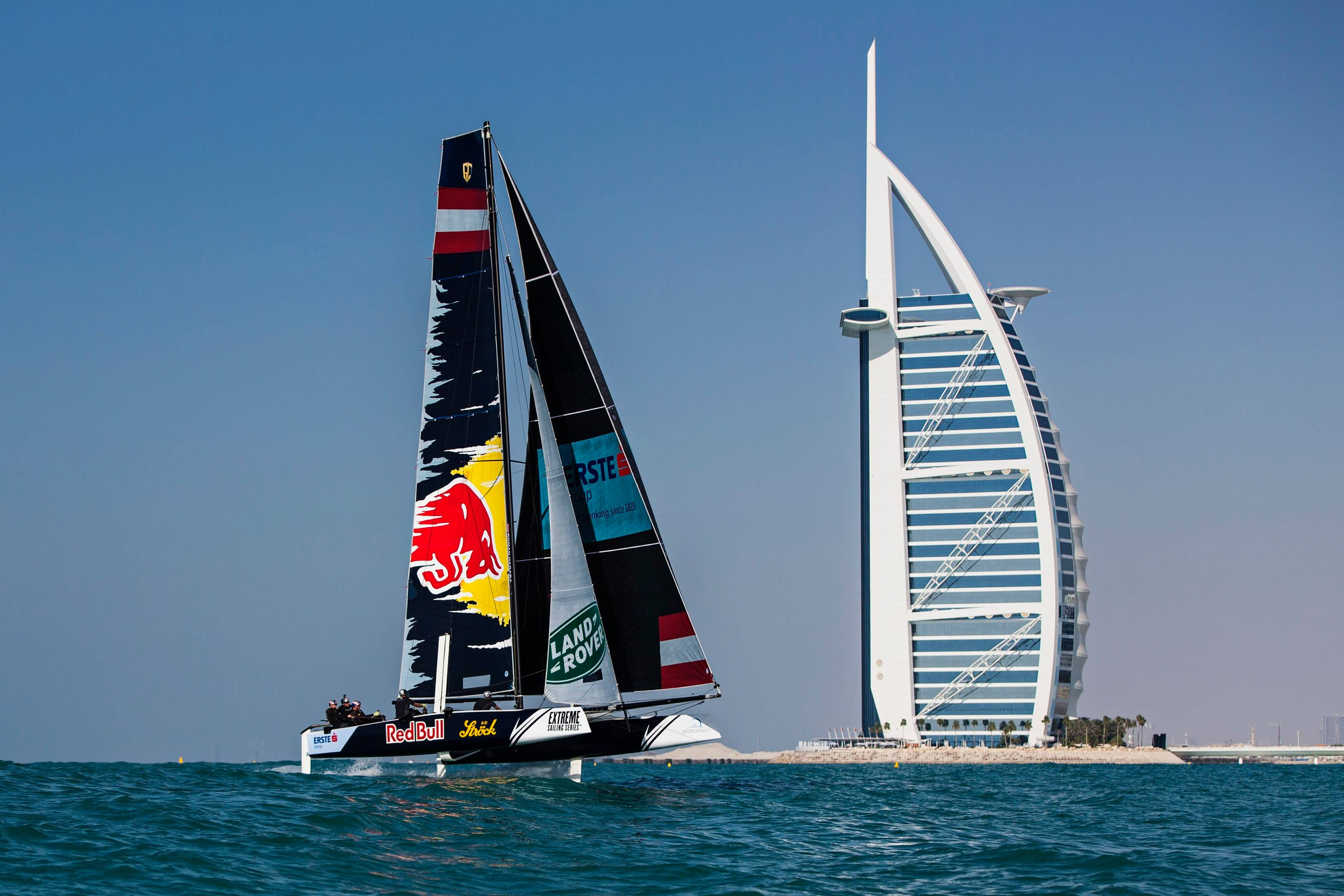 The extreme sailing series sails into dubai performance for The sail dubai